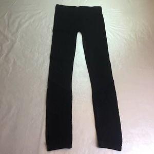 Xersion Lounge Knit Bottom Leggings Black Small